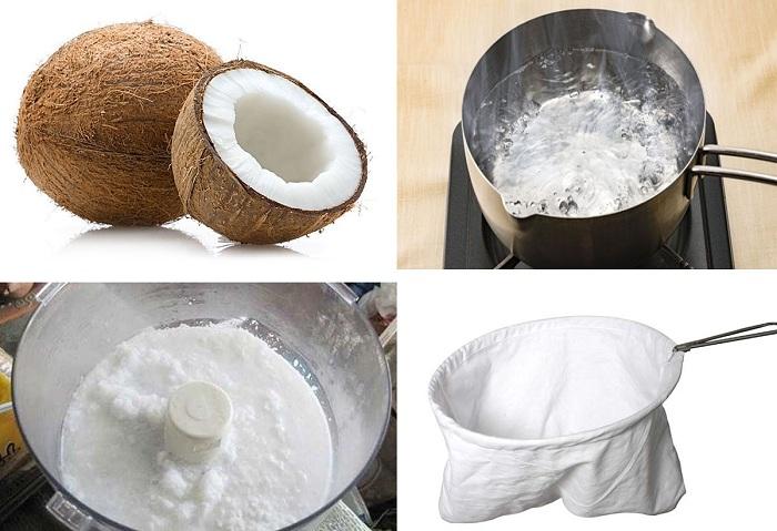 Nấu dầu dừa thủ công
